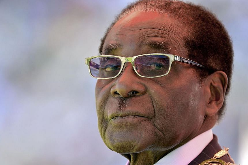 Zimbabwean President Robert Mugabe looking on during his inauguration and swearing-in ceremony at the 60,000-seater sports stadium in Harare. Mugabe on Aug 22, 2013. President Mugabe said he does not know how he has came to live this long, a month ah