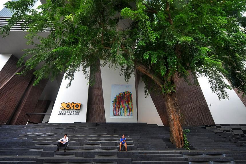 The school (above) in Dhoby Ghaut now has an enrolment of 1,092. -- ST FILE PHOTO