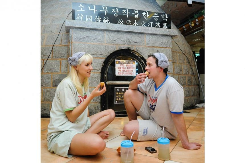 The Korean jjimjilbangs, most sought-after for their traditional kiln saunas, are increasingly popular with international tourists. -- PHOTO: COURTESY OF KOREA TOURISM ORGANISATION