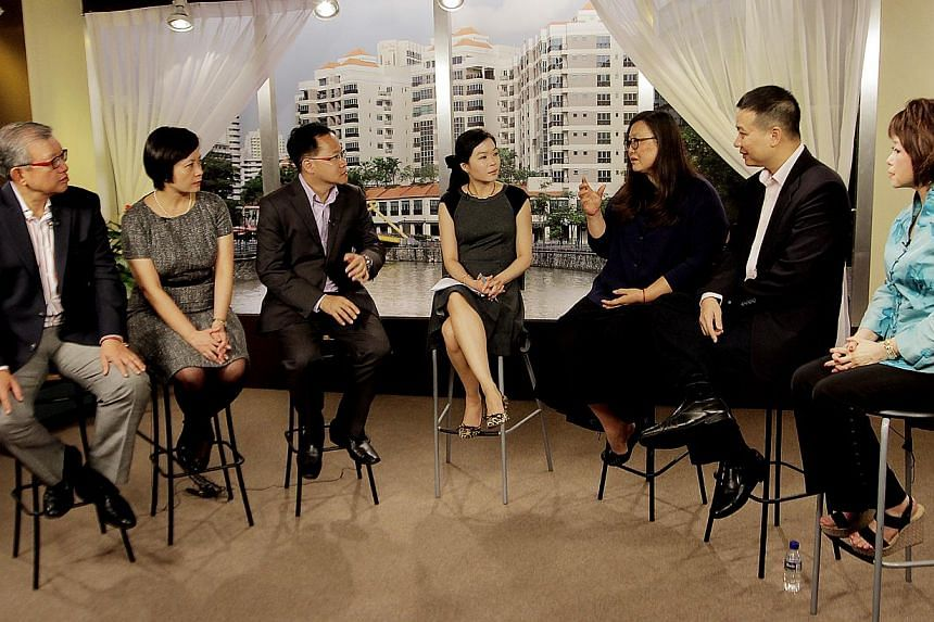 (From left) MR HO MENG KIT CEO, Singapore Business Federation; MS GAN KWEE LIAN Tax partner, KPMG; MR JIMMY KOH UOB's head of economic-treasury research and investor relations; MS FIONA CHAN ST's senior economics correspondent; DR MARY ANN TSAO Chair