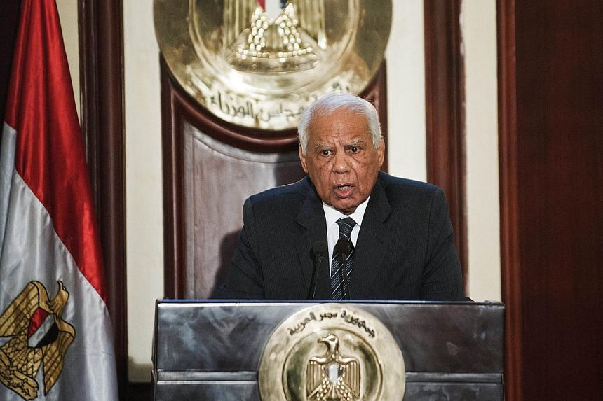 Egyptian Prime Minister Hazem el-Beblawi said on Monday, Feb 24, 2014, the government is to resign. -- FILE PHOTO: AFP