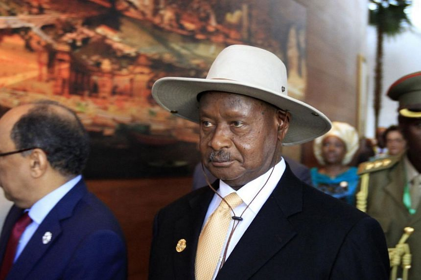 Ugandan President Yoweri Museveni will sign into law on Monday, Feb 24, 2014, a controversial bill that will see homosexuals jailed for life, despite international pressure, a government spokesman said. -- PHOTO: REUTERS