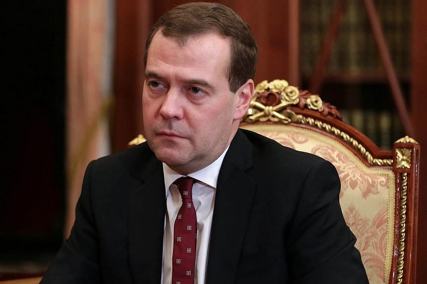 Russian Prime Minister Dmitry Medvedev on Monday, Feb 24, 2014, questioned the legitimacy of Ukraine's new leadership and said that Western countries which accept it are mistaken, in his first reaction to the transfer of power in Kiev. -- FILE PHOTO: