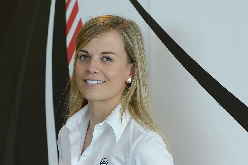 Susie Wolff will become the first woman driver in 22 years to take part in a Formula One Grand Prix weekend this season, after Williams said the Scot would be on track for them in two free practice sessions later this year. -- ST FILE PHOTO: NG