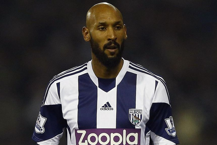 West Bromwich Albion's Nicolas Anelka looks on during their English Premier League soccer match against Everton at The Hawthorns in West Bromwich, central England, on Jan 20, 2014. -- FILE PHOTO: REUTERS