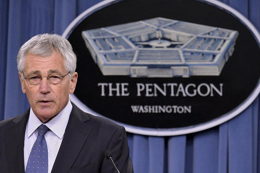 US Secretary of Defence Chuck Hagel speaking to the press on looming budget cuts at the Pentagon on Feb 24, 2014. The Pentagon is proposing a reduction in the size of the US Army to its smallest manpower since before WWII and scrapping a class of Air