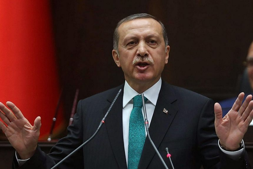 Turkish Prime Minister Tayyip Erdogan's office described as a dirty immoral fabrication voice recordings purporting to reveal Mr Erdogan telling his son to dispose of large sums of money on the day police raided houses in a graft inquiry into his gov