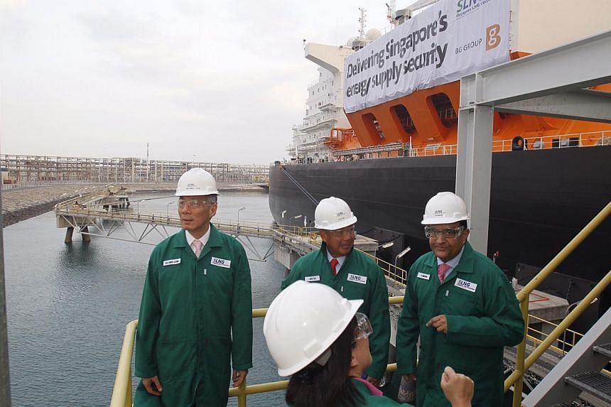 Official opening of the Singapore LNG (Liquefied Natural Gas) Terminal on 25 February 2014. -- ST PHOTO: KEVIN LIM CP