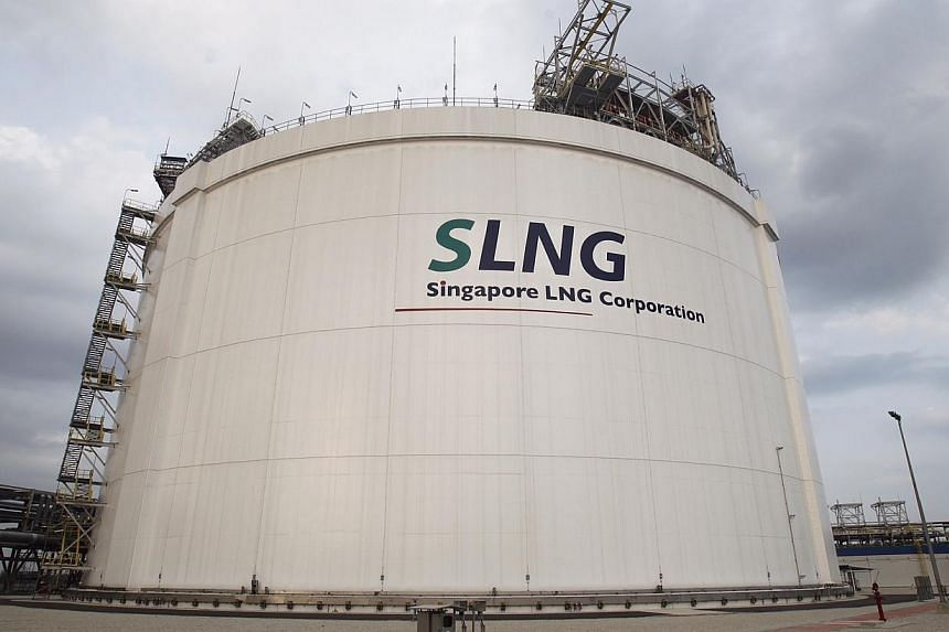 A gas storage tank. Official opening of the Singapore LNG (Liquefied Natural Gas) Terminal on 25 February 2014. -- ST PHOTO: KEVIN LIM CP