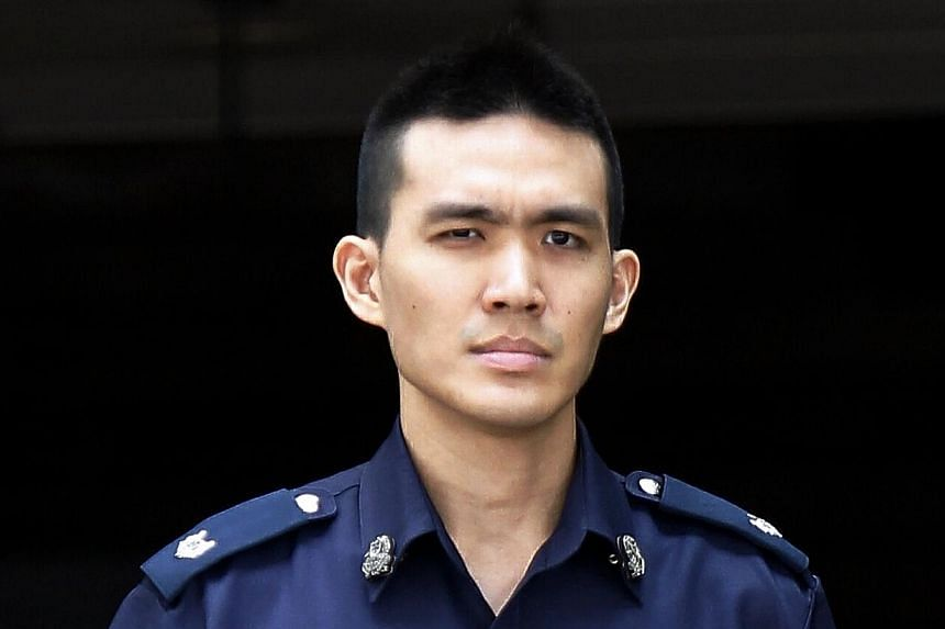Assistant Superintendent Jonathan Tang at the Subordinate Courts on Feb 25, 2014. There were less than 90 police officers left to face some 150 to 200 active rioters at the height of the Little India riot on Dec 8 last year, the Committee o