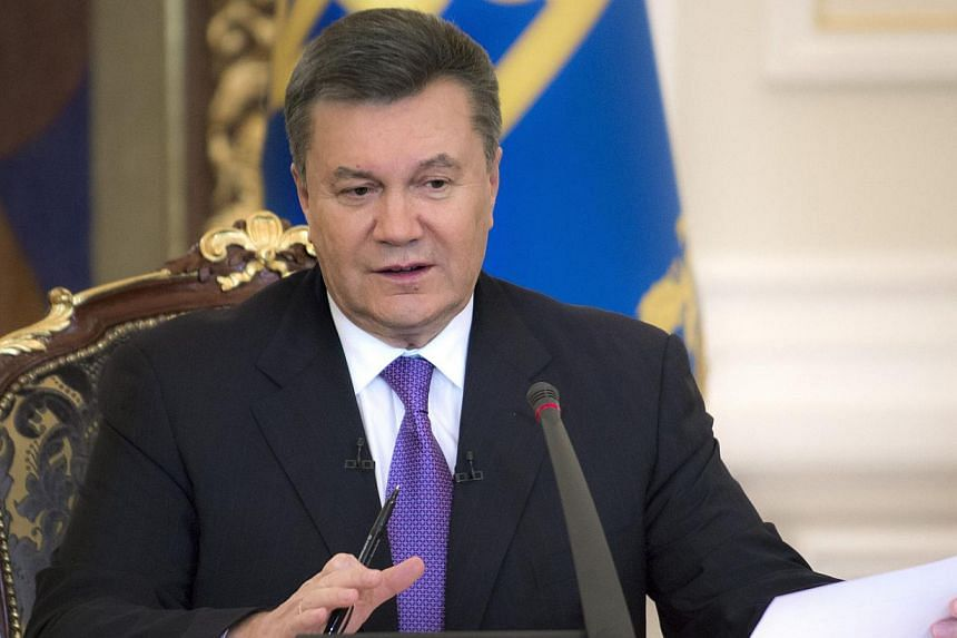 Before he was ousted as Ukraine's president, Viktor Yanukovych (above) drew up plans to use thousands of troops to crush the protests that eventually toppled him, according to a leaked document published online. -- FILE PHOTO: AFP