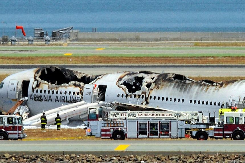 United States aviation authorities have fined South Korea's Asiana Airlines US$500,000 (S$633,000) over last year's deadly San Francisco air crash for failing to properly help families of victims, officials said on Feb 25, 2014. -- FILE PHOTO: AFP