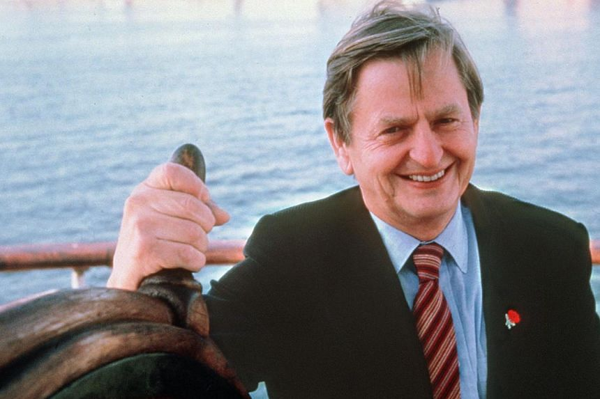 A portrait dated of September 24, 1982 of Swedish Prime Minister Olof Palme in Stockholm. Mr Palme was killed 28 February 1986 by a lone gunner in central Stockholm. -- PHOTO: AFP