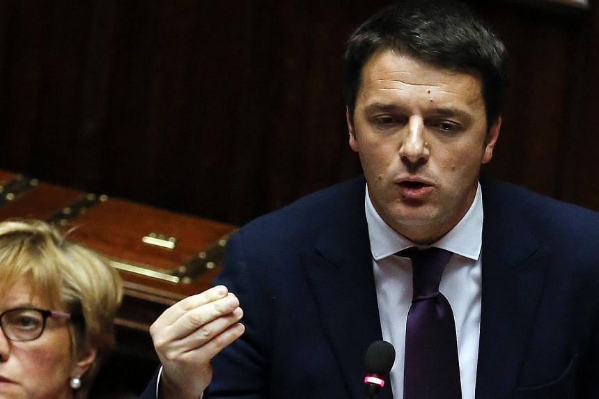 Mr Matteo Renzi, who is the European Union's youngest prime minister, earlier on Tuesday called for Italy to have a more lynchpin role in Europe in an address to lawmakers.. -- PHOTO: REUTERS