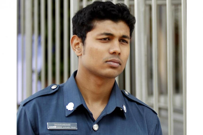 Auxiliary police officer Srisivasangkar Subramaniam, a Malaysian national, testified on the fifth day of a public hearing into the 8 December 2013 riot by the Committee of Inquiry (COI), on Feb 25, 2014. An auxiliary police officer on Wednesday, Feb