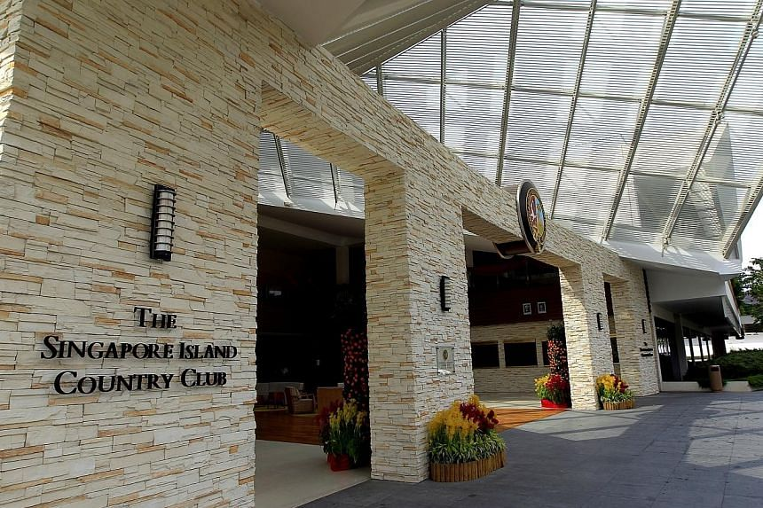 "The exterior of the Singapore Island Country Club (SICC). Members of Singapore Island Country Club (SICC) were told on Thursday, Feb 27, 2014, that the club ""is at liberty"" to submit an alternative proposal on which course would be converted into a p"