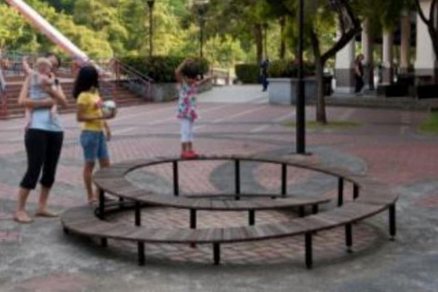 (The) Coil by Look Architects Pte Ltd. The Urban Redevelopment Authority has launched a contest to get the public to vote for their favourite bench designs and where they would like to see them installed. -- PHOTO:URBAN REDEVELOPMENT AUTHORITY