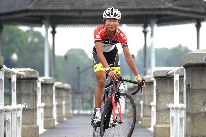 THE OCBC Singapore Pro Cycling Team's Goh Choon Huat scored Singapore's best-ever finish on a International Cycling Union (UCI) Tour, when he took fourth position at the Tour de Langkawi on Thursday. -- ST FILEPHOTO: ASHLEIGH SIM