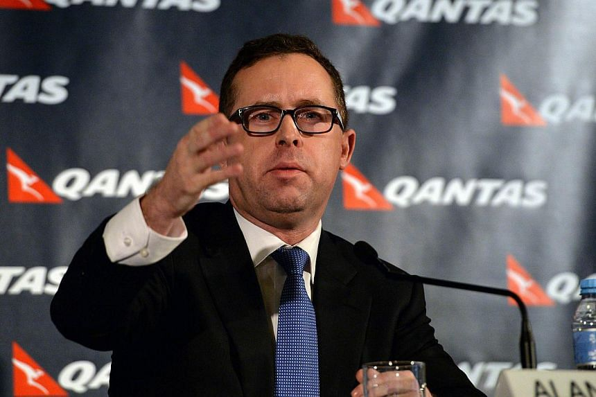 Qantas Group chief executive officer Alan Joyce speaks at a press conference in Sydney on Feb 27, 2014.Whether through error or circumstance, Qantas Airways Ltd's spectacular fall from grace is giving chief executive Alan Joyce his best chance
