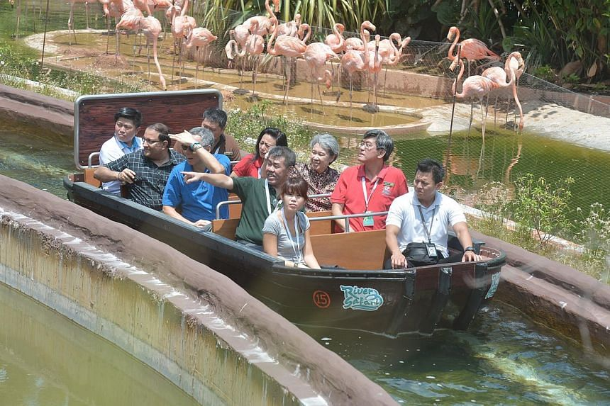PM Lee Hsien Loong is the guest of honour at the River Safari Grand Opening. -- ST PHOTO: KUA CHEE SIONG