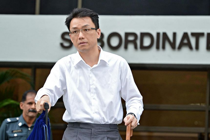 Law professor Tey Tsun Hang leaving the Subordinate Court on Jan 21, 2013, on Day 8 of his sex-for-grades trial. -- ST FILE PHOTO: NURIA LING