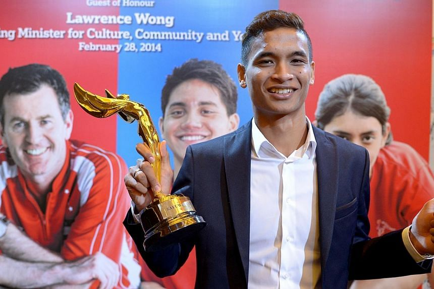 Singapore national team footballer Safuwan Baharudin (pictured) has been named the Straits Times Athlete of the Year for 2013.In a ceremony at the Grand Copthorne Waterfront Hotel on Friday, Feb 28, 2014, the centre-back received his award from