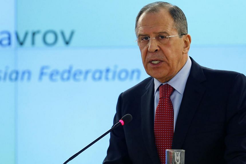 Russian Foreign Minister Sergei Lavrov on Monday, March 3, 2014, accused Ukraine's new leaders of attacking minority rights and said that ultra-nationalists control many areas of the ex-Soviet country.-- PHOTO: REUTERS
