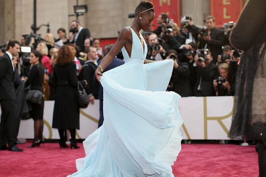 Actress Lupita Nyong'o attends the Oscars held at Hollywood & Highland Center on March 2, 2014, in Hollywood, California. -- PHOTO: AFP