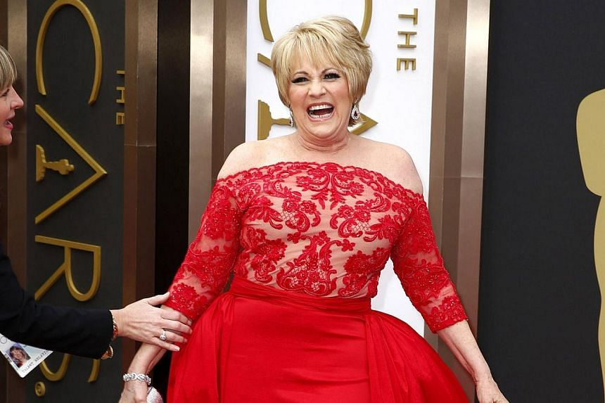 Luft arrives at the 86th Academy Awards in Hollywood, California on Mar 2, 2014. -- PHOTO: REUTERS