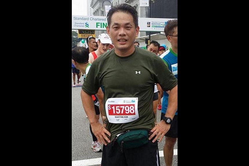 Mr Martynn Koh Tong Yong, 45, had taken part in the Standard Chartered Marathon Singapore and the Sundown Marathon last year.