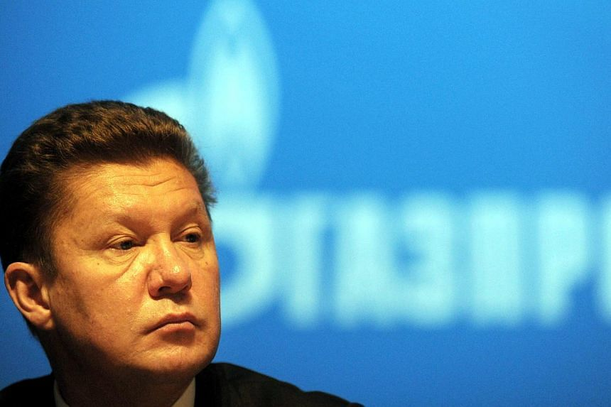 A file picture taken on June 28, 2013, shows Russia's gas giant Gazprom CEO, Alexei Miller, attending the world biggest gas company's annual meeting in Moscow. Russian energy giant Gazprom on Tuesday said it would end Ukraine's gas discount from