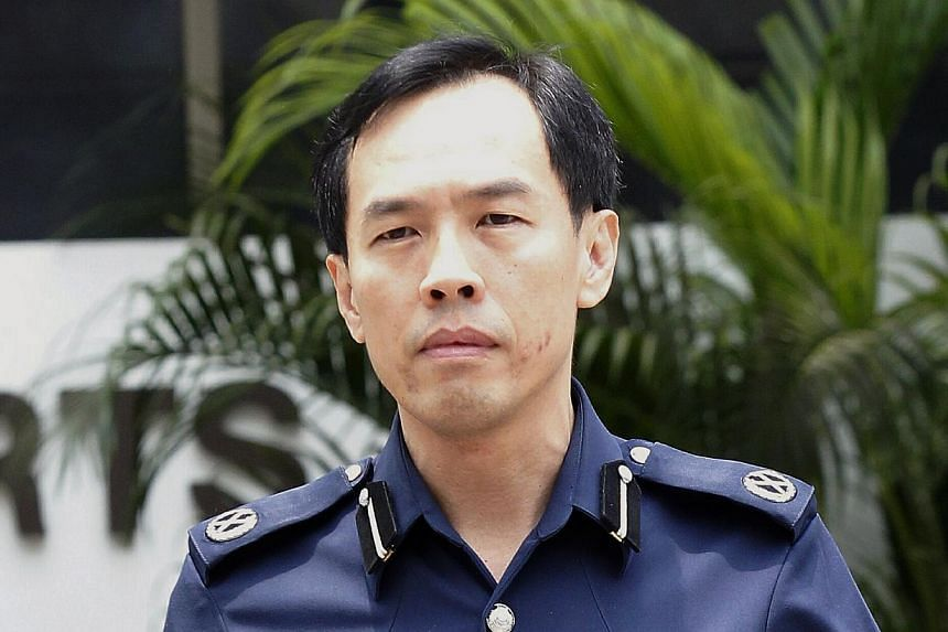 DAC Lu faced intense questioning on the witness stand. He seemed beleaguered at various points, but at times he gave as good as he got. He said his guiding principle that night was not to use force unless there was no choice. -- ST PHOTO: WONG KWAI C