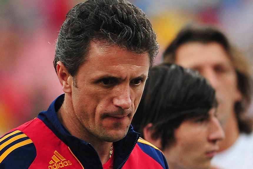 Former Romania football great and Barcelona captain Gheorghe Popescu was jailed for over three years on Tuesday for his part in a corruption scandal that shook Romanian football. -- FILE PHOTO: AFP