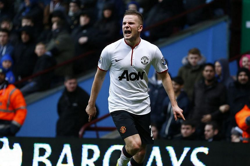Manchester United's Tom Cleverley celebrates his goal against Aston Villa during their English Premier League match at Villa Park on Dec 15, 2013. England football manager Roy Hodgson has spoken out against a petition signed by 10,000 people cal