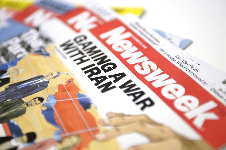 Newsweek magazine, online only since the end of 2012, will return to print starting on Friday in the United States (US) and Europe.-- ST FILE PHOTO: DESMOND LIM