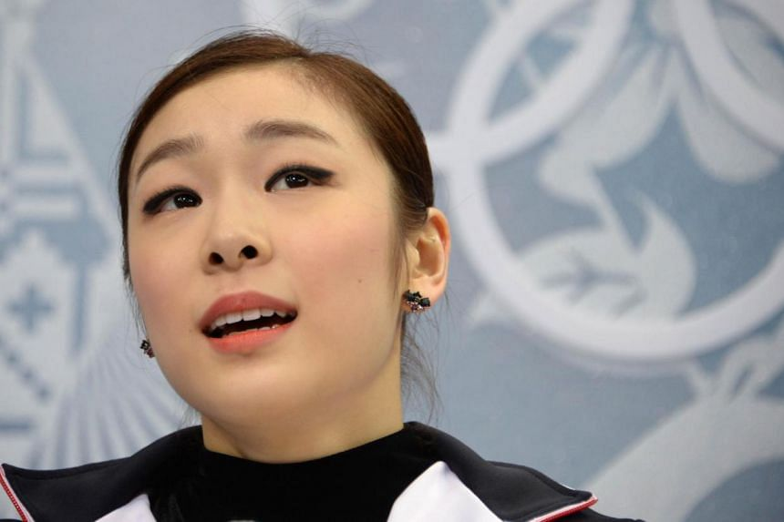 South Korea's Kim Yu Na at the Iceberg Skating Palace during the Sochi Winter Olympics on Feb 20, 2014. As the two Koreas crossed diplomatic swords and military tensions simmered, South Koreans were focused on Thursday on one thing only - the love li