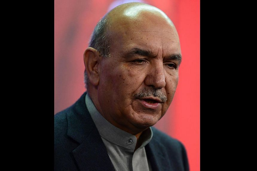 In this photograph taken on February 4, 2014, Afghan presidential candidate Qayum Karzai participates in a televised debate at Tolo TV station in Kabul. Afghan former foreign minister Zalmai Rassoul scored major boost to his presidential election cam