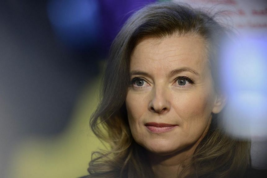 Ms Valerie Trierweiler, the former partner of French President Francois Hollande, on Thursday, March 6, 2014, won a privacy suit she launched over pictures of her recovering from their break-up on a tropical beach. -- FILE PHOTO: AFP