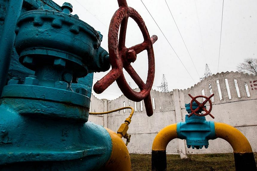 Gas pipeline valves are seen near Kiev on March 4, 2014. European Union countries such as Poland and Greece are worried they may face gas shortages and economic damage if Russia stops pumping the fuel to Ukraine, with Kiev facing a Friday deadli