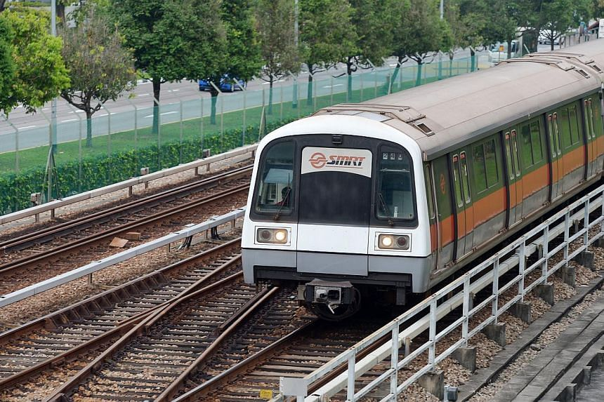 Taking an MRT train that stops at just a few stations and skips the rest so that travelling time is reduced could become an option for commuters here in future. -- ST FILE PHOTO: ALPHONSUS CHERN