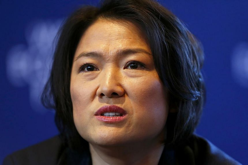 SoHo China CEO Zhang Xin, 48, is 408th on the Forbes list. Together with her entrepreneur husband Pan Shiyi, she founded SoHo, central Beijing's largest property developer best known for its iconic building designs. -- FILE PHOTO: REUTERS