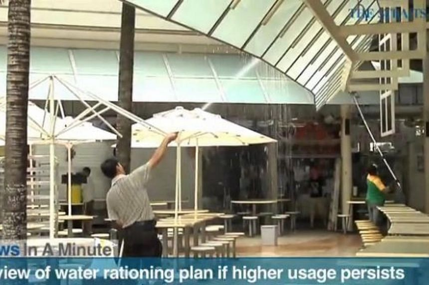 In today's The Straits Times News In A Minute video, Environment and Water Resources Minister Vivian Balakrishnan says Singapore may have to review its water-rationing plan if higher usage persists, among other issues. -- PHOTO: SCREENGRAB FROM