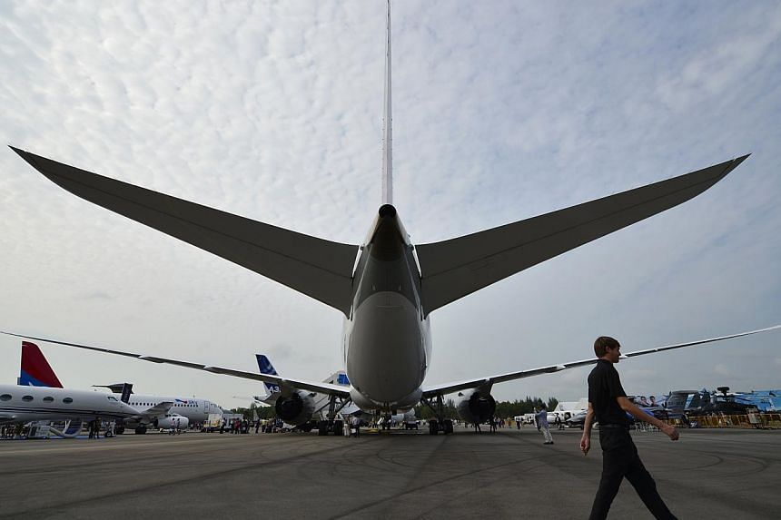 A rear view of the Qatar Airways Boeing 787 Dreamliner.Boeing said on Friday that hairline cracks have been found in the wings of some of its 787 Dreamliners still in production due to a manufacturing problem. -- ST FILE PHOTO:MUGILAN RAJ