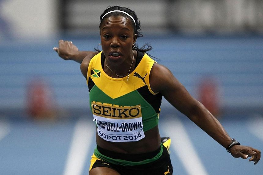 Jamaica's Veronica Campbell-Brown competes in women 60 metres heat 4 at the IAAF World Indoor Athletics Championships in the Ergo Arena in the Polish coastal town of Sopot, on March 8, 2014.Campbell-Brown insisted on Saturday,March 8, 201