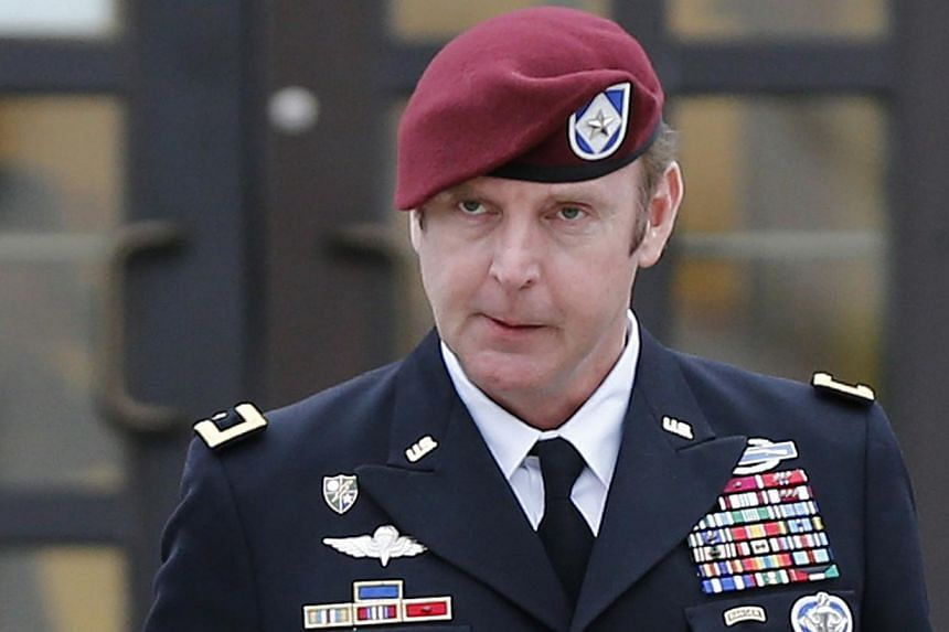 US Army Brigadier General Jeffrey Sinclair leaves the courthouse at Ft. Bragg in Fayetteville, North Carolina, on March 4, 2014. A US army general twice forced a female captain to engage in oral sex when she tried to break off their illicit sexual re
