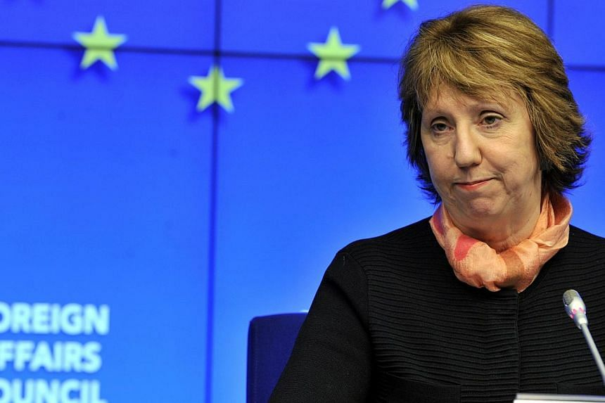 European Union foreign policy chief Catherine Ashton was in Iran on March 9, 2014, for top-level meetings with officials who are pursuing a track of talks they hope will eventually end international pressure and suspicions over Teheran's nuclear prog