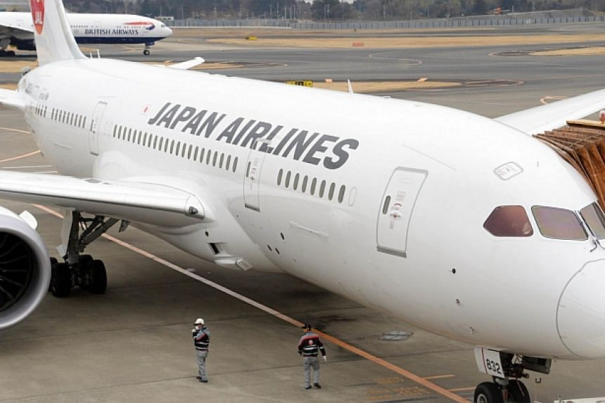 Japan Airlines (JAL) Boeing 787 Dreamliner leaving the gate at Narita international airport in Chiba prefecture, suburban Tokyo on Jan 15, 2014. Japan Airlines (JAL) said on Sunday its Dreamliner flight from Tokyo to San Francisco made an emerg
