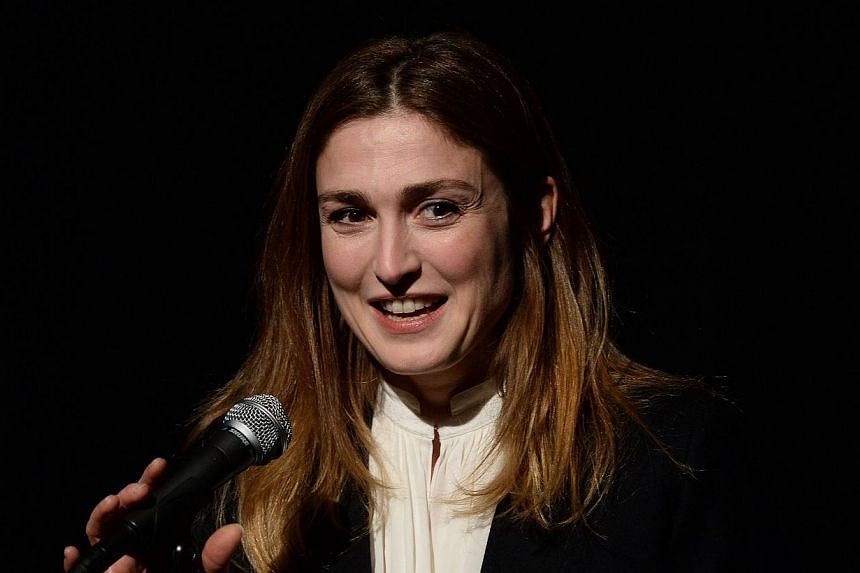 French actress Julie Gayet presents a documentary Cineast(e) she co-directed, during a show at the French Institute Alliance Francaise in New York, on March 8, 2014. Gayet, who has been linked to President Francois Hollande, fended off questions abou