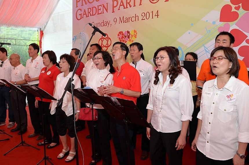 WeCare Choir Performance. PA Project We Care Garden Party at the Istana. President Tony Tan and Minister Lim Swee Say will be attending. Want to see and hear your CEO sing?  Employees of 15 firms got to do so when their bosses  sh