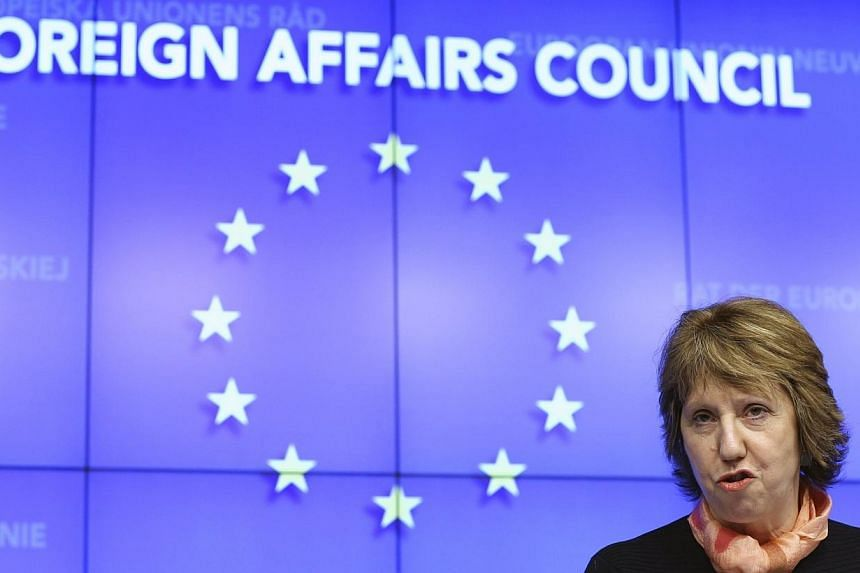 EU foreign policy chief Catherine Ashton holds a news conference after a European Union emergency foreign ministers meeting on the situation in Ukraine, in Brussels on March 3, 2014.European Union foreign policy chief Catherine Ashton said on S